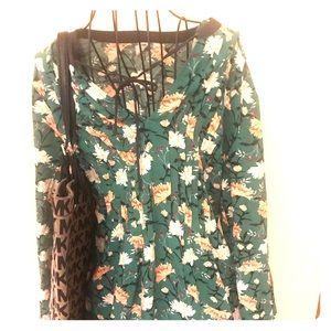 Old Navy Waist Defined Floral Dress